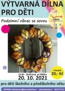 Výtvarná dílna pro děti - Podzimní věnec se sovou 1